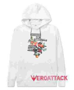 Division Of Agriculture White color Hoodies