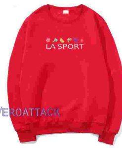 LA Sport Red Unisex Sweatshirts