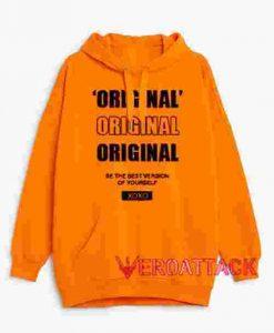 Original Xoxo Orange color Hoodies