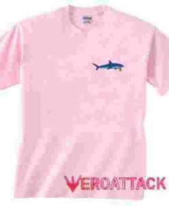 Shark Light Pink T Shirt Size S,M,L,XL,2XL,3XL