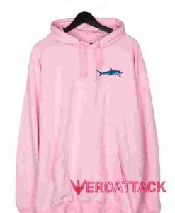 Shark Light Pink color Hoodies