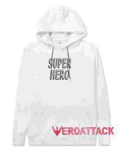 Super Hero White color Hoodies