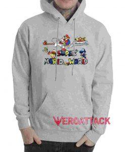 Super Mario World Grey color Hoodies