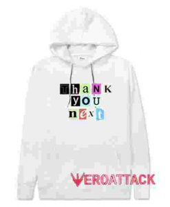 Thank You Next White color Hoodies