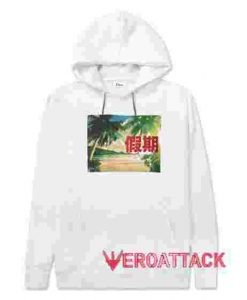 Vacation White color Hoodies