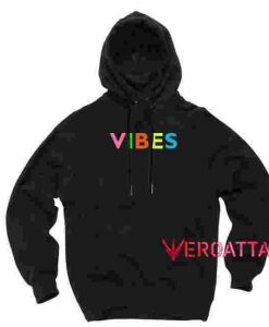 Vibes Full Color Black color Hoodies