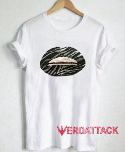 Zebra Lips T Shirt Size XS,S,M,L,XL,2XL,3XL
