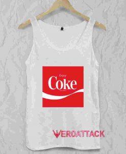 Enjoy Coke Logo Tank Top Men And Women
