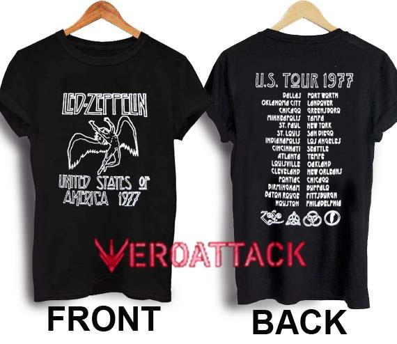 50a31555 Led Zeppelin 1977 American Tour T Shirt Size XS,S,M,L,XL,2XL,3XL