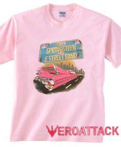 1984 Bruce Springsteen Light Pink T Shirt Size S,M,L,XL,2XL,3XL