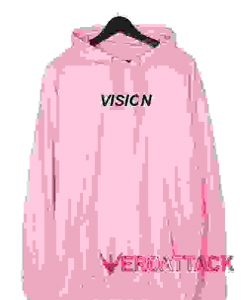 Vision Light Pink color Hoodies