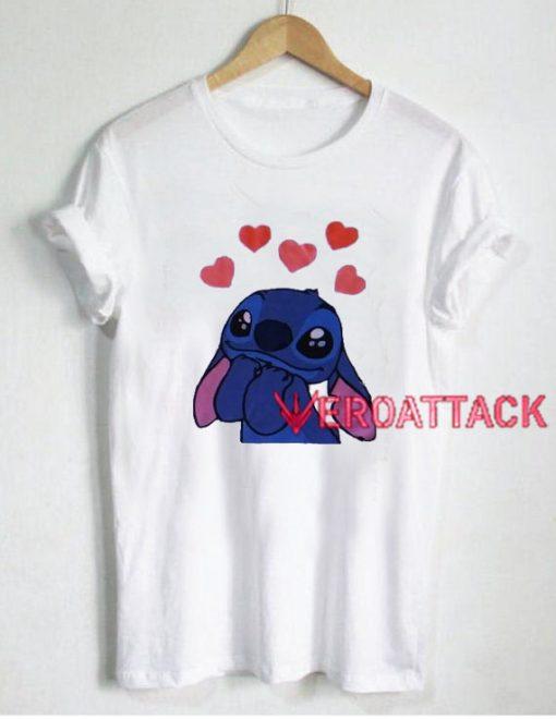 Stitch Love T Shirt Size XS,S,M,L,XL,2XL,3XL