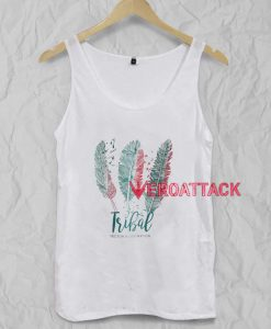 Tribal Letter Feather Tank Top Men And Women