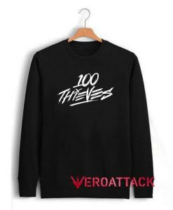 100 Thieves White Letter Unisex Sweatshirts