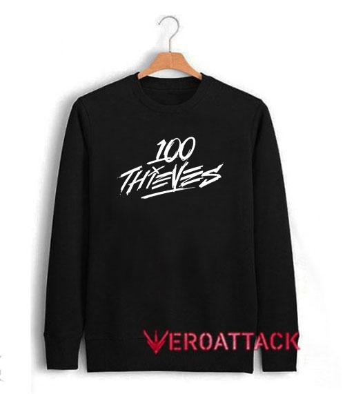 100 Thieves White Letter Unisex Sweatshirts