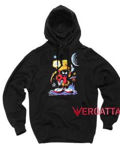 1992 Marvin The Martian Looney Tunes Black color Hoodies