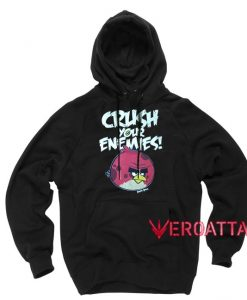 Crush Your Enemies Angry Birds Black color Hoodies