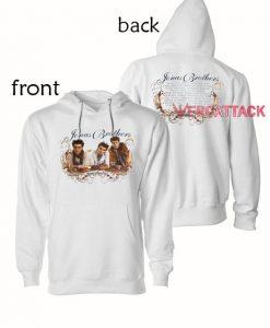 Jonas Brothers World Tour 2009 White color Hoodies