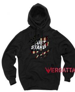 Just Stand US Veteran Black color Hoodies