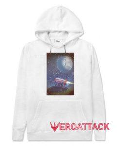 Moonshot Rocket White color Hoodies