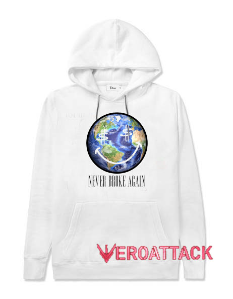 Never Broke Again World Wide White color Hoodies