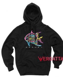 Vintage Caramel Neon Fish Black color Hoodies