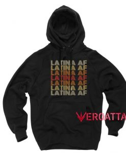 Vintage Latina Af Black color Hoodies