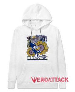 Warner Bros Sunflowers White color Hoodies