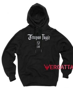 Tempus Fugit Black color Hoodies