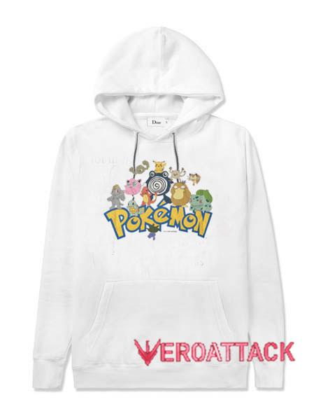Vintage 2000 Pokemon White color Hoodies