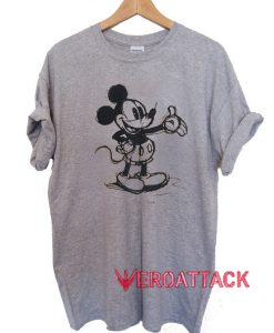 Classic Mickey Mouse Sketch T Shirt