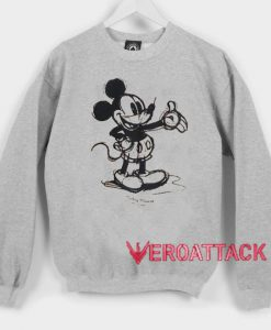 Classic Mickey Mouse Sketch Unisex Sweatshirts