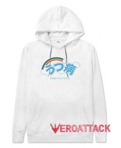 Depression White color Hoodies