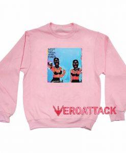 Girls Just Wanna Have Fund$ Light Pink Unisex Sweatshirts