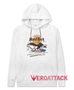 Hard Rock Cafe Washington DC White color Hoodies