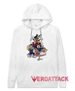Mickey Mouse Hip Hop Rap White color Hoodies