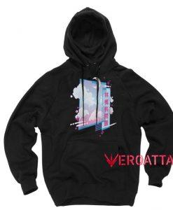 Vaporwave Aesthetic Black color Hoodies