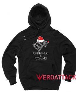 Christmas is Coming Black Hoodies